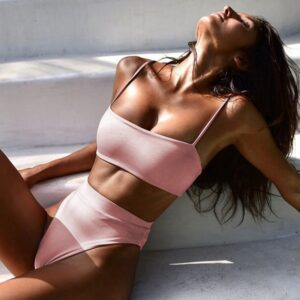 Shop Bloom Fashion Sexy Women Swimsuit Solid Color