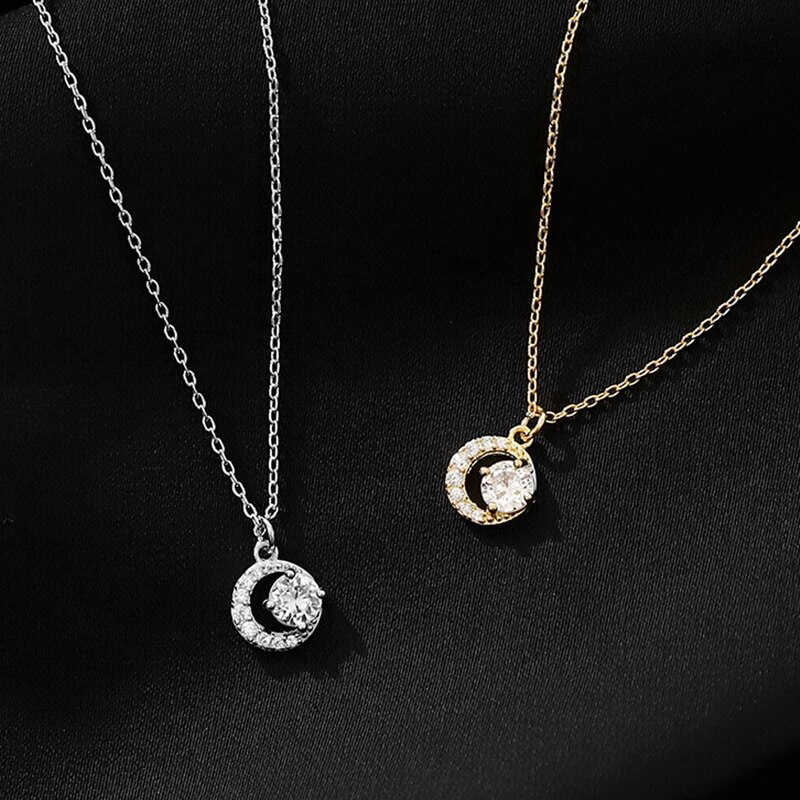 Shop Bloom Fashion Elegant Rhinestone Necklaces Rounds Pendants