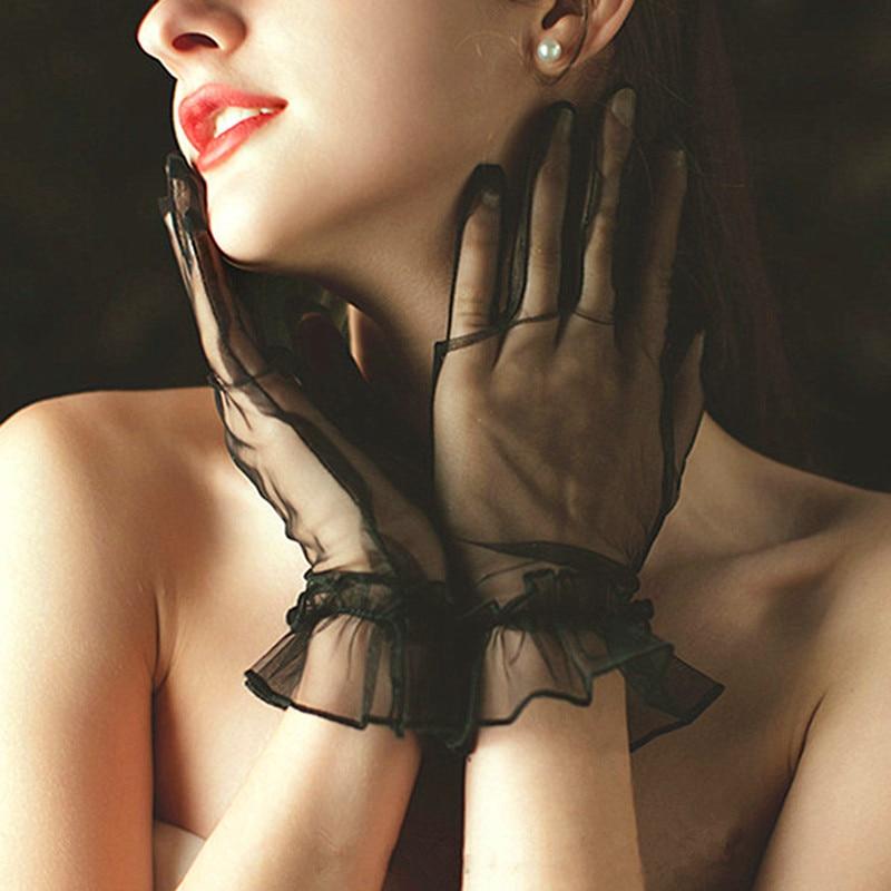 Shop Bloom Fashion Women Gloves Lace Full Finger